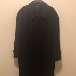 Full Length Black Wool & Cashmere Coat